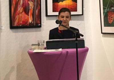 Eröffnung der Kunstausstellung der Flug des Stiftes