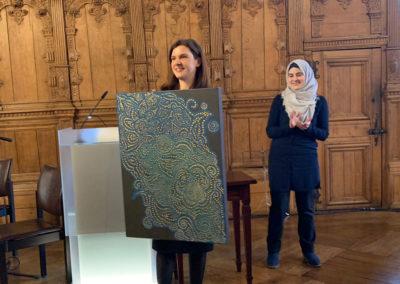 Kultur-und Friedenspreisverleihung mit Nibal Koumi.