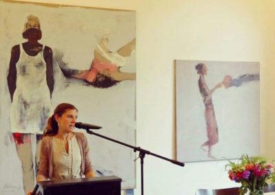 Eröffnung der Sammelausstellung Syrische Künstler in der Villa Ichon.  FUNUN Festival
