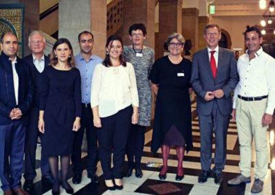 Vorstand SEKu e.V. mit Bürgermeister Dr. Carsten Sieling  2016 im.Rathaus